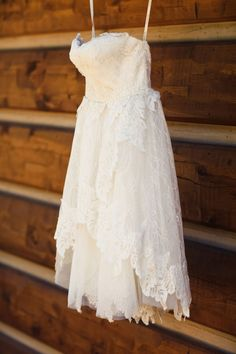 Ivy & Aster short lace reception dress : Hillary Maybery Photography