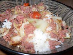 The Polynesian Kitchen: Corned Beef and Cabbage w/ Tomatoes Tongan Food, Fijian Food, Samoan Food, Corned Beef Recipes, Mince Recipes, Beef Tomato Recipe Hawaii, Fijian Recipes, Samoan Recipes, Hawaiian Recipes