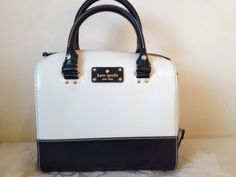 Kate Spade Berkely Lane Porcelain Leather Alessa Handbag!! Make a bid