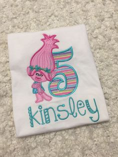 Trolls Birthday Shirt, Poppy Birthday Shirt, Troll Birthday Party by ChristyLynnDesign on Etsy https://www.etsy.com/listing/493182300/trolls-birthday-shirt-poppy-birthday