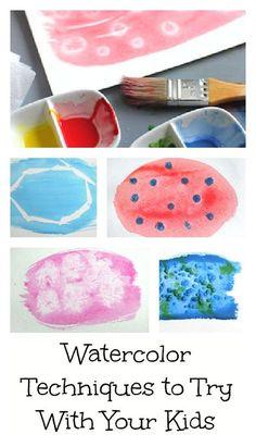 9+ Fun Watercolor Techniques