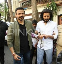 Riteish Deshmukh and Vivek Oberoi clicked in the city while promoting Bank Chor