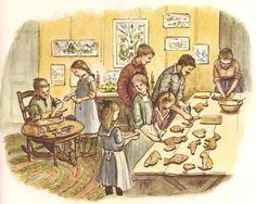 becky's christmas illustration tasha tudor 001 - Christmas Baking
