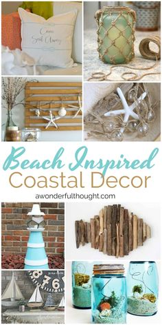 Beach Inspired Coastal Decor is part of Cottage decor Bedroom - Looking for ideas for your summer decorating Check out these cute beach inspired coastal decor ideas Great to go with your nautical theme! Beach Cottage Style, Beach Cottage Decor, Beach Decor Bathroom, Beach Bedroom Decor, Cottage Crafts, Beach Room, Seaside Decor, Coastal Decor, Diy Beachy Decor