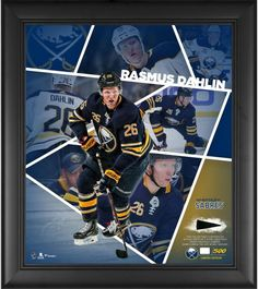Rasmus Dahlin Buffalo Sabres Fanatics Authentic Framed x Impact Player Collage with a Piece of Game-Used Puck - Limited Edition of 500 A Team, Team Logo, Stanley Cup Finals, Buffalo Sabres, Vintage Display, National Hockey League, Nhl, Card Games, Black Wood