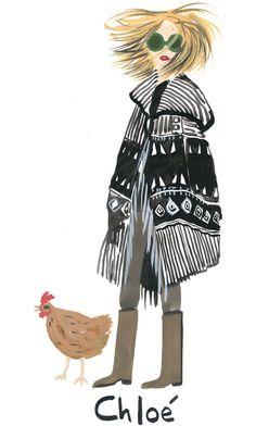 Ponchos With Panache Fashion Drawings, Fashion Sketchbook, Fashion Sketches, Collages, Fashion 2017, Autumn Fashion, Poncho Design, Capes & Ponchos, T Magazine