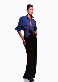 ☆ Yasmeen Ghauri by Patrick Demarchelier VOGUE UK,  August 1991 ☆