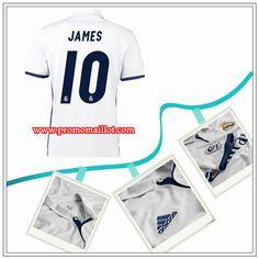 aa8627dc7 Créer Son Maillot Real Madrid JAMES 10 Domicile Blanc Adidas 2016 17  Officiel