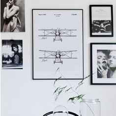 AIRPLANE plakat fra Bomedo✈️ #bomedo #airplane #flyvemaskine #poster #plakat #patent #tegning
