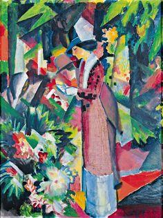 'Spaziergang in Blumen' (1912) by August Macke