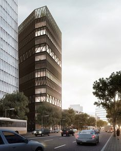 mecanoo has presented plans for the namdeamun office building, a 14-storey tower located next to one of south korea's oldest and largest markets.