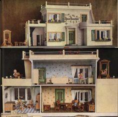 the dollhouse collector: Chronology - Albin Schönherr - chronology Antique Dollhouse, Dollhouse Dolls, Antique Dolls, Vintage Dolls, Dollhouse Miniatures, Miniature Rooms, Miniature Houses, Barbie Furniture, Dollhouse Furniture