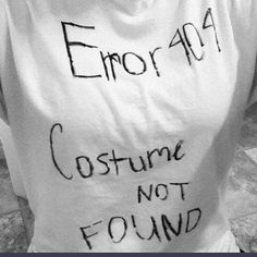 Error 404: Costume Not Found