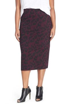 MELISSA MCCARTHY SEVEN7 Ponte Pencil Skirt (Plus Size) available at #Nordstrom