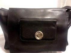 TIFFANY & FRED Paris, Leather Messenger Shoulder Bag, Black #TIFFANYFRED #MessengerCrossBody