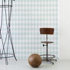 Ferm Living Tapete Harlequin mint. #FermLiving #artvoll #TopMarke www.artvoll.de