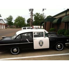 An antique police car in downtown Tunica, MS