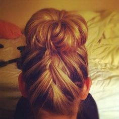 Braided bun! So cute! by eloise