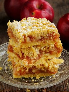 delicious apple pie on shortcrust pastry (in Polish) Pork Recipes, Cooking Recipes, Cooking Tips, Yummy Treats, Sweet Treats, Shortcrust Pastry, Apple Pie, Sweet Tooth, Dessert Recipes