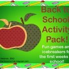 This is a SUPER fun back to school pack!  With 12 different activities, detailed instructions, and a poster, you will be all set for the first week...