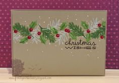 Hi there :0) We're getting in the mood for Christmas over at Make the Day Special Stamp Store blog with a whole month of inspiration card...