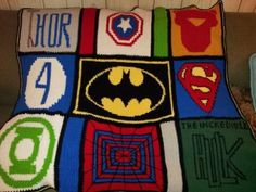 You have to see Superman with superhero blanket on Craftsy!