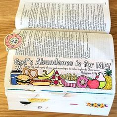 Philippians 4:19 - God's Abundance is for ME Bible Journaling Template by SewBitandCo