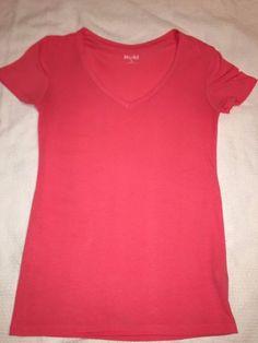 Juniors Size Small Shirt By Mudd V-Neck Pinkish Coral Stylish #Mudd #Blouse