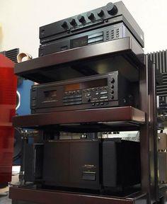 Killer Nakamichi rack// Audio Stand, Audio Rack, Stereo Cabinet, Hi Fi System, Hi End, Music System, High End Audio, Sound & Vision, Hifi Audio