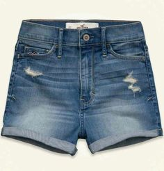Hollister Womens Denim Destroyed Shorts by Abercrombie NWT size 0 Sexy Summer! #Hollister #Denim