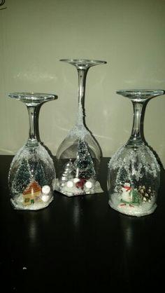 Kerst onder wijnglas