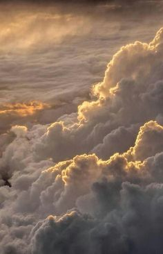 Love the clouds that are seen from above all puffy and 3 dimensional