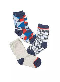 Hosiery // Boys 3pk Inca Crew Socks