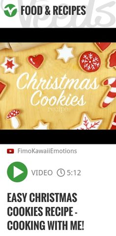 EASY Christmas Cookies Recipe - Cooking with me! | http://veeds.com/i/41Ro5L-zIY3vrzJq/jummy/