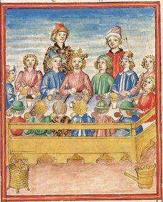 Pontus und Sidonia — Stuttgart (?) - Werkstatt Ludwig Henfflin, um 1475 Cod. Pal. germ. 142 Folio 5r