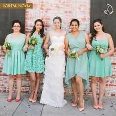 #bodas #menta #mint #novia #bride #damas #bridesmaids