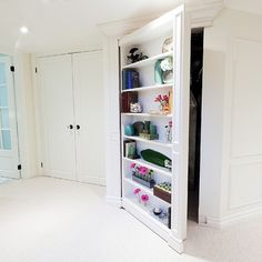 hide the water heater, furnace, etc. with a shelf door!