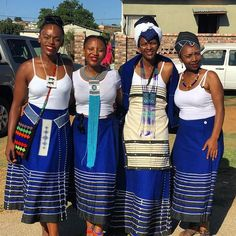 Stylish South African Shweshwe Dress Designs - Loud In Naija African Traditional Wedding Dress, African Fashion Traditional, African Inspired Fashion, African Print Fashion, Traditional Outfits, South African Dresses, African Attire, African Wear, African Women
