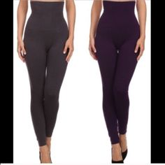 SALE High Waist, Compression Leggings High waist compression leggings. French terry lining. One size fits up to snug size 10. Fit not guaranteed. Price is for one pair.  Choose from CHARCOAL, DARK PURPLE, COPPER, ARMY GREEN, RED     ⚠️CONFIRM COLOR AVAILABILITY PRIOR TO PURCHASE         PRICE IS FIRM UNLESS BUNDLED Pants Leggings