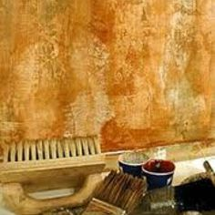 Image detail for -painting intricate finish baroque is roller sheetrock texturing slap . Tuscan Style Homes, Tuscan House, Faux Walls, Textured Walls, Faux Painting, Diy Painting, Tuscan Decorating, Decorating Tips, Color Palette Generator