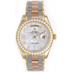 Rolex Tridor Meteorite Dial Special Edition Masterpiece Men's Watch 18948   Portero Luxury