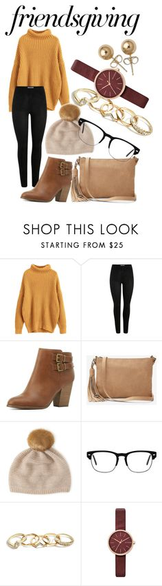 """Untitled #95"" by carreras-shyanne ❤ liked on Polyvore featuring Charlotte Russe, Express, Henri Bendel, GUESS, Skagen and Bling Jewelry"