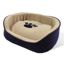 Puppy Dog Cat Kitty Pet Bed Cushion Paws2claws Blue comfy Soft house 16x13x5 XS ** You can get more details by clicking on the image.Note:It is affiliate link to Amazon.