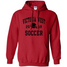 Customize your apparel to wear to the next game. Victoria West, Hoodies, Sweatshirts, Warriors, Sportswear, Soccer, How To Wear, Fashion, Moda