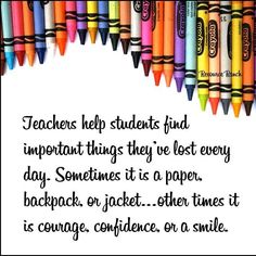 Teachers help students find important things they've lost every day...