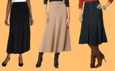 How to Wear Long Skirts After 50