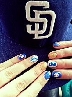 77c249ee3fe 15 Best San Diego Padres Nails, Hair and Makeup images in 2015   San ...