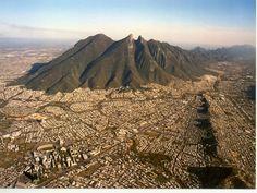Monterrey Metropolitan Area around the beautiful Cerro de la Silla