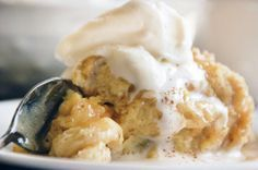 White Chocolate Bread Pudding w/ sauce - Recipe from Chef John Folse, New Orleans Note: use pan that is 4 in. deep.