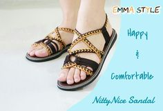 We can guarantee that you will love these sandals as not only are they beautiful but they are also comfortable.  All our sandals are handmade locally here in Thailand. We do one by one with care.  We sincerely believe that my customers are looking for good quality and design in handmade items, it is what we try to keep the best quality of our sandals. By : www.nittynice-sandal.com
